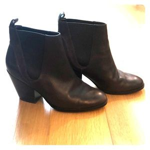 Twice-worn Cole Haan Grand OS Leather Booties